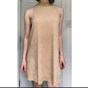 Nude Mock Neck Dress